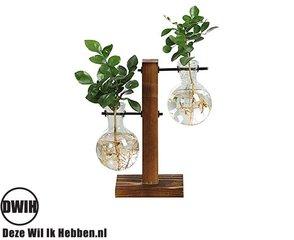 Houten / glazen vazen