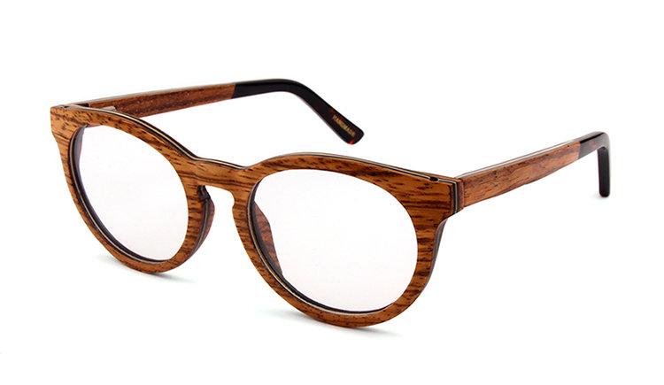Houten-brilmonturen