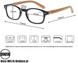 Leesbril op sterkte, Houten pootjes, panter frame