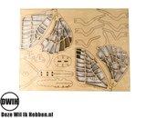 Set van 4 houten 3D  puzzels - bouwpakket