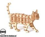 Houten 3D  puzzel Kat / Poes - bouwpakket