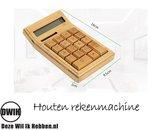 Houten Rekenmachine / Calculator op Zonne-Energie