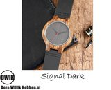 Houten horloge: Signal Dark