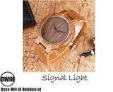 Houten horloge: Signal Light