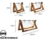 Nordic style houten/glazen vaas