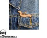 LaserWood Pin / Broche Teckel
