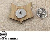 LaserWood Pin / Broche achterkant