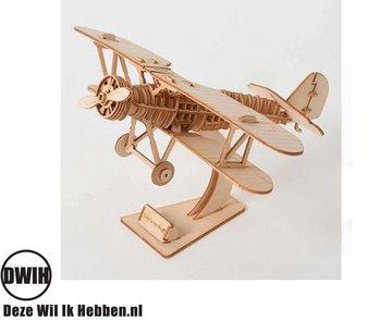 Houten 3D puzzel Vliegtuig bouwpakket