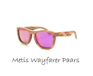 Houten zonnebril: Metis Wayfarer  Paars