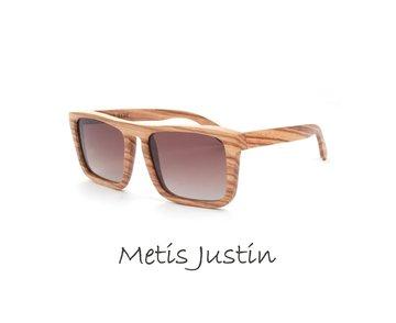Houten zonnebril: Metis Justin Zebra