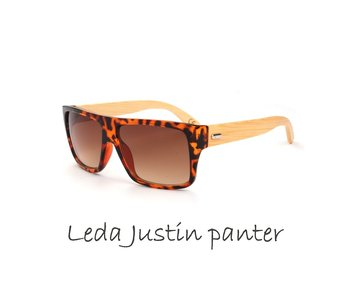 Houten zonnebril: Leda Justin Panter