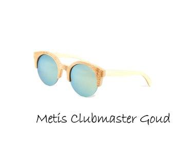 Houten zonnebril: Metis Clubmaster Goud