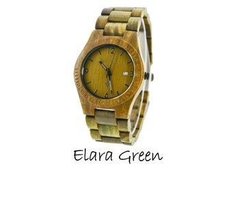 Houten horloge: Elara Green Sandal