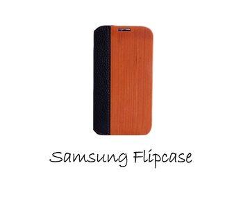 Samsung Galaxy S4 flip case Kersen en leer