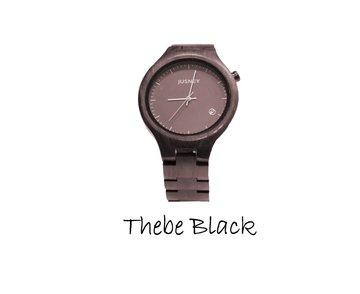 Houten horloge: Thebe Black