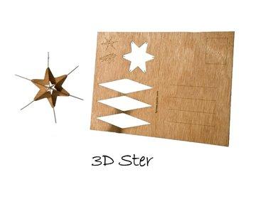 Houten kaart - ster 4