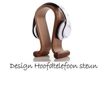 Houten design hoofdtelefoon steun