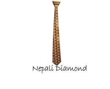 Houten stropdas: Nepali Diamond