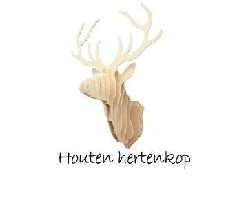 Houten Hertenkop - Klein