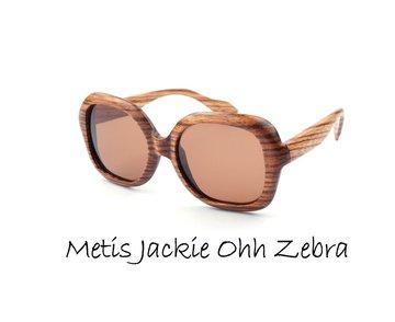 Houten zonnebril: Metis Jackie Ohh Zebra