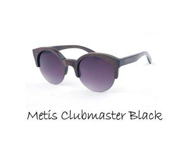 Houten zonnebril: Metis Clubmaster Black