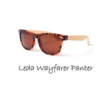 Houten zonnebril: Leda Wayfarer Panter