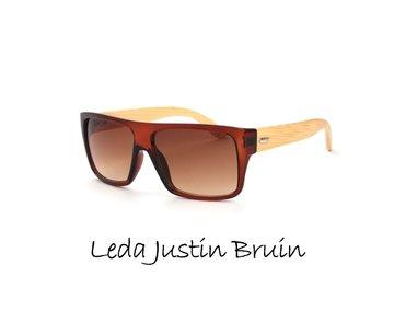 Houten zonnebril: Leda Justin Bruin