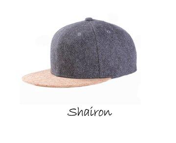 Shairon - Pet met klep van kurk, donker grijs