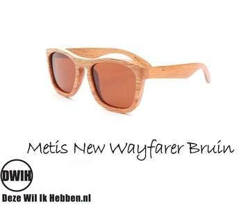 Houten zonnebril: Metis New Wayfarer Bruin