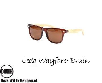 Houten zonnebril: Leda Wayfarer Bruin