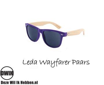Houten zonnebril: Leda Wayfarer Paars