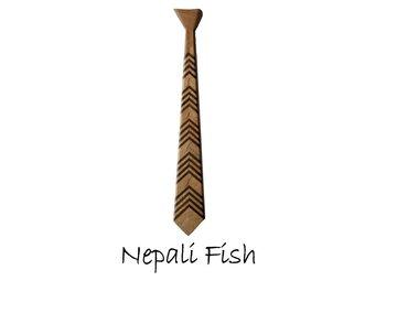 Houten stropdas: Nepali Fish