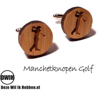LaserWood manchetknopen Golf