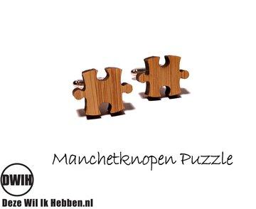 LaserWood manchetknopen Puzzel