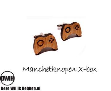 LaserWood manchetknopen X-box