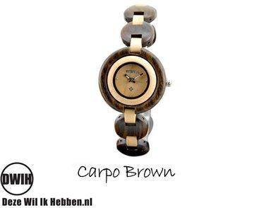 Houten horloge: Carpo Brown