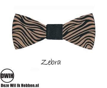 Houten strik: Zebra