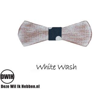 Houten strik: White Wash