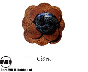 Houten corsage Liam
