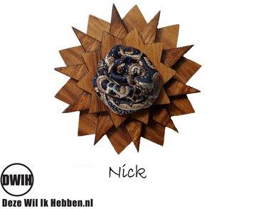 Houten corsage Nick