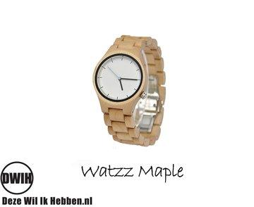 Houten horloge: WATZZ Maple (WATZZ 09)