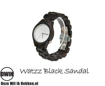 Houten horloge: WATZZ Black Sandal (WATZZ 10)