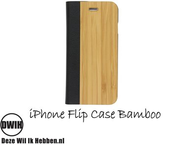 iPhone 4 / 4S Flip case – Bamboo en Leer
