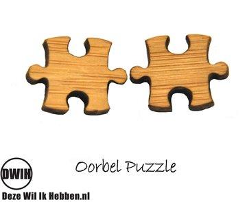 LaserWood Oorbel Puzzle