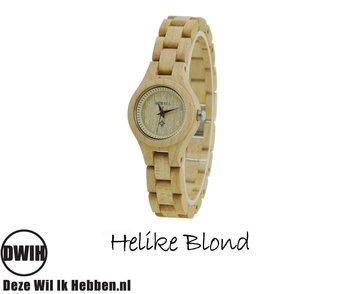 Houten horloge: Helike Blond