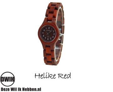 Houten horloge: Helike Red