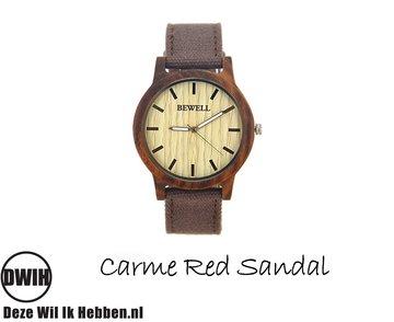 Houten horloge: Carme Red Sandal