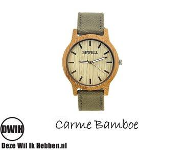 Houten horloge: Carme Bamboe