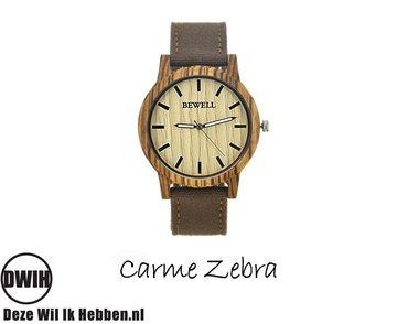 Houten horloge: Carme Zebra