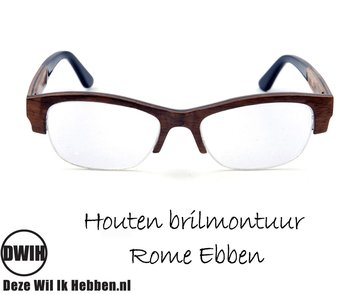 Houten brilmontuur - Rome Ebben